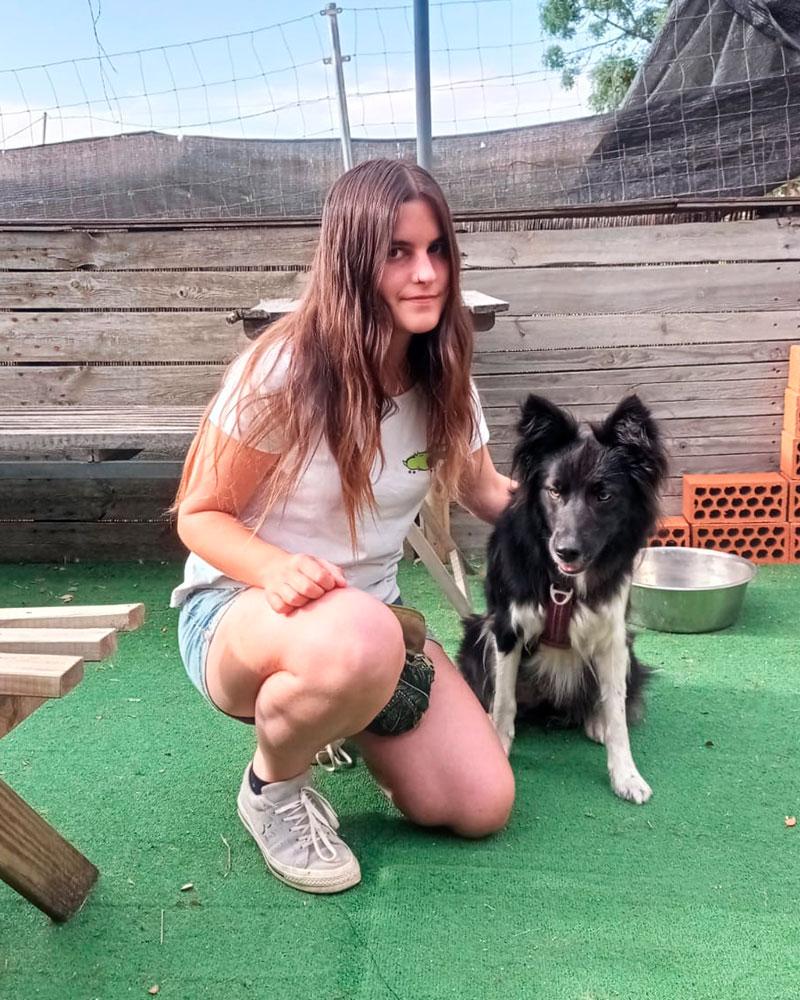 Cristina Contreras Pinchete. Educadora de La Escuela Canina La Tejera